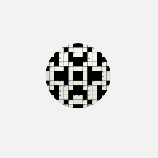 Crossword Pattern Decorative Mini Button