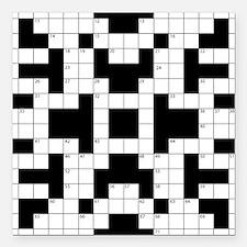"Crossword Pattern Decora Square Car Magnet 3"" x 3"""