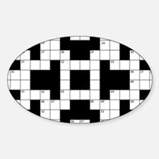 Crossword Pattern Decorative Decal