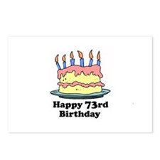 Happy 73rd Birthday Postcards (Package of 8)