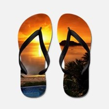 Amazing 3d Sunrise Flip Flops