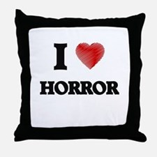 I love Horror Throw Pillow
