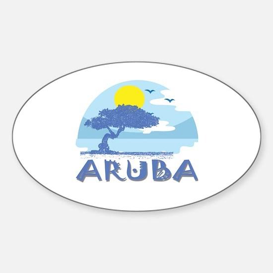 Unique Aruba Sticker (Oval)