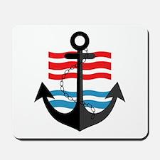 Nautical Anchor Trendy Summer Design Mousepad