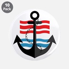 """Nautical Anchor Trendy Summe 3.5"""" Button (10 pack)"""