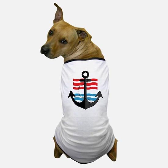 Nautical Anchor Trendy Summer Design Dog T-Shirt