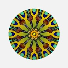 "Psychedelic Mandala 004 A 3.5"" Button (100 pack)"