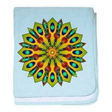 Psychedelic Mandala 004 A baby blanket