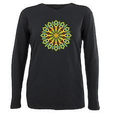 Psychedelic Mandala 004 A Plus Size Long Sleeve Te