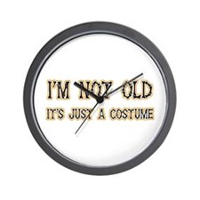 Funny Old Costume Wall Clock