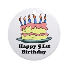 Happy 51st Birthday Ornament (Round)