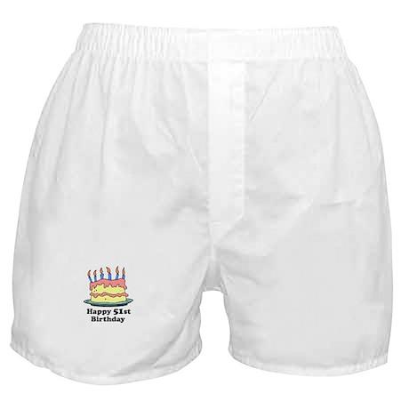 Happy 51st Birthday Boxer Shorts