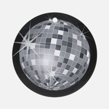 Cute Disco Round Ornament