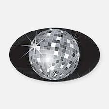 Cute Disco Oval Car Magnet