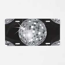 silver disco ball Aluminum License Plate