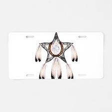 horse shoe star dreamcatcher Aluminum License Plat
