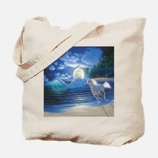 moonlight running Tote Bag