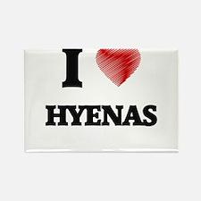 I love Hyenas Magnets