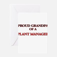 Proud Grandpa of a Plant Manager Greeting Cards
