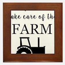 Unique Farm babies Framed Tile