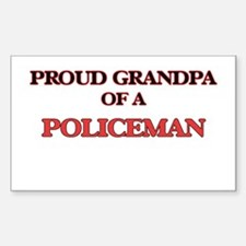 Proud Grandpa of a Policeman Decal