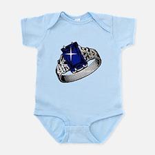 Princess Diva Sapphire Ring Infant Bodysuit