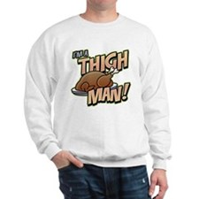Funny Thanksgiving Thigh Sweatshirt