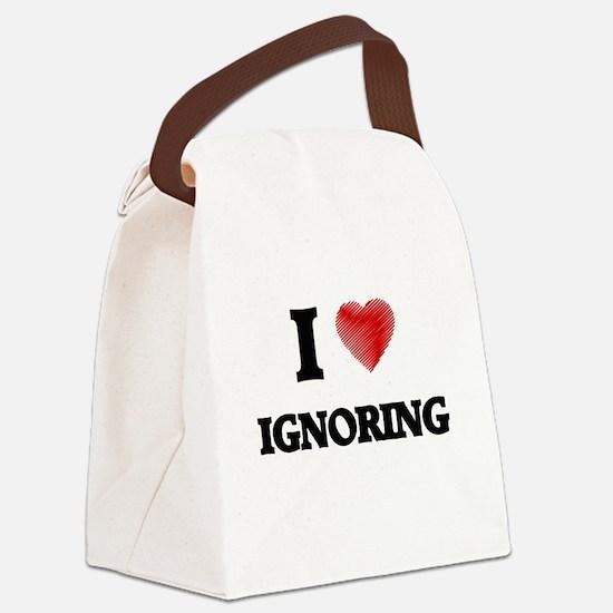 I love Ignoring Canvas Lunch Bag