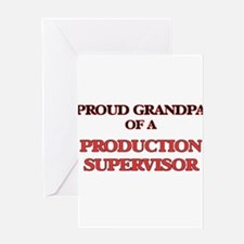 Proud Grandpa of a Production Super Greeting Cards