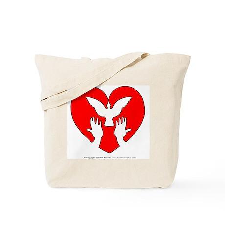 HeartDove Tote Bag