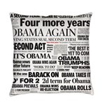 Obama Wins Re-Election Collage Everyday Pillow