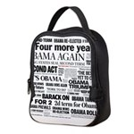Obama Wins Re-Election Collage Neoprene Lunch Bag
