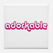 Adorkable Tile Coaster