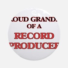 Proud Grandpa of a Record Producer Round Ornament