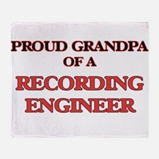 Proud Grandpa of a Recording Enginee Throw Blanket
