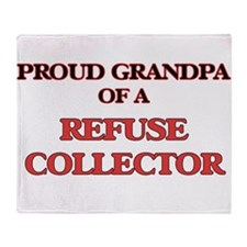 Proud Grandpa of a Refuse Collector Throw Blanket