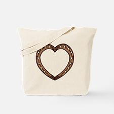 gold horse shoe heart Tote Bag