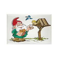 Santa Christmas Elf Elves Rectangle Magnet