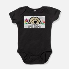 Unique Golden puppy Baby Bodysuit