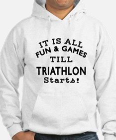 Triathlon Fun And Games Designs Hoodie