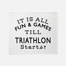 Triathlon Fun And Games Designs Throw Blanket