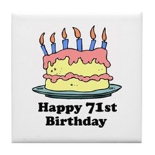 Happy 71st Birthday Tile Coaster
