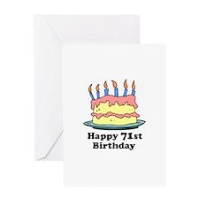 Happy 71st Birthday Greeting Card