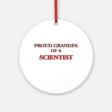 Proud Grandpa of a Scientist Round Ornament