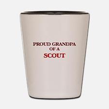 Proud Grandpa of a Scout Shot Glass