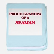 Proud Grandpa of a Seaman baby blanket