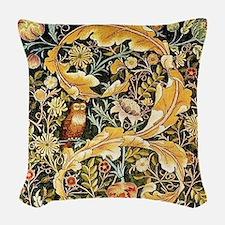 Wm Owl Woven Throw Pillow