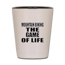 Mountain Biking The Game Of Life Shot Glass