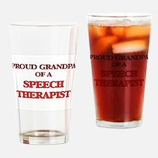 Proud Grandpa of a Speech Therapist Drinking Glass
