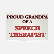 Proud Grandpa of a Speech Therapist Magnets